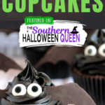 Bat Cupcakes - Ready for an easy cupcake that you can make for your Halloween Party? These Bat Cupcakes are exactly what you've been looking for!