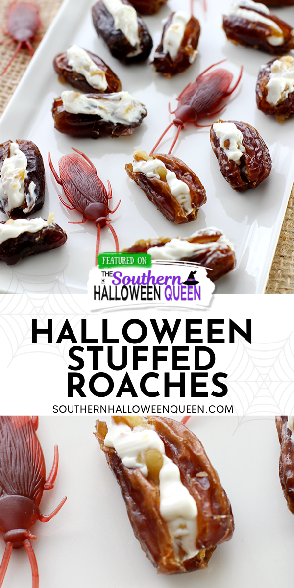 Halloween Stuffed Roaches - Ready for a gross Halloween snack?These Halloween Stuffed Roaches are a disgustingly entertaining way to get in on some gross holiday fun! via @southernhalloweenqueen