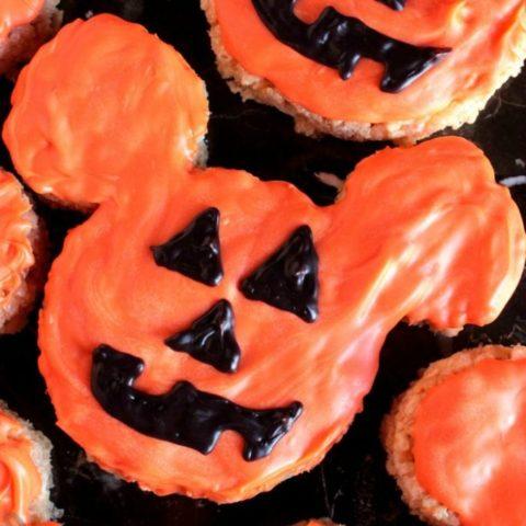 Mickey Pumpkin Marshmallow Cereal Treats