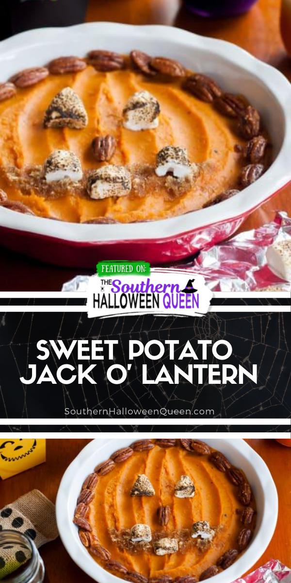 Sweet Potato Jack O' Lantern via @southernhalloweenqueen