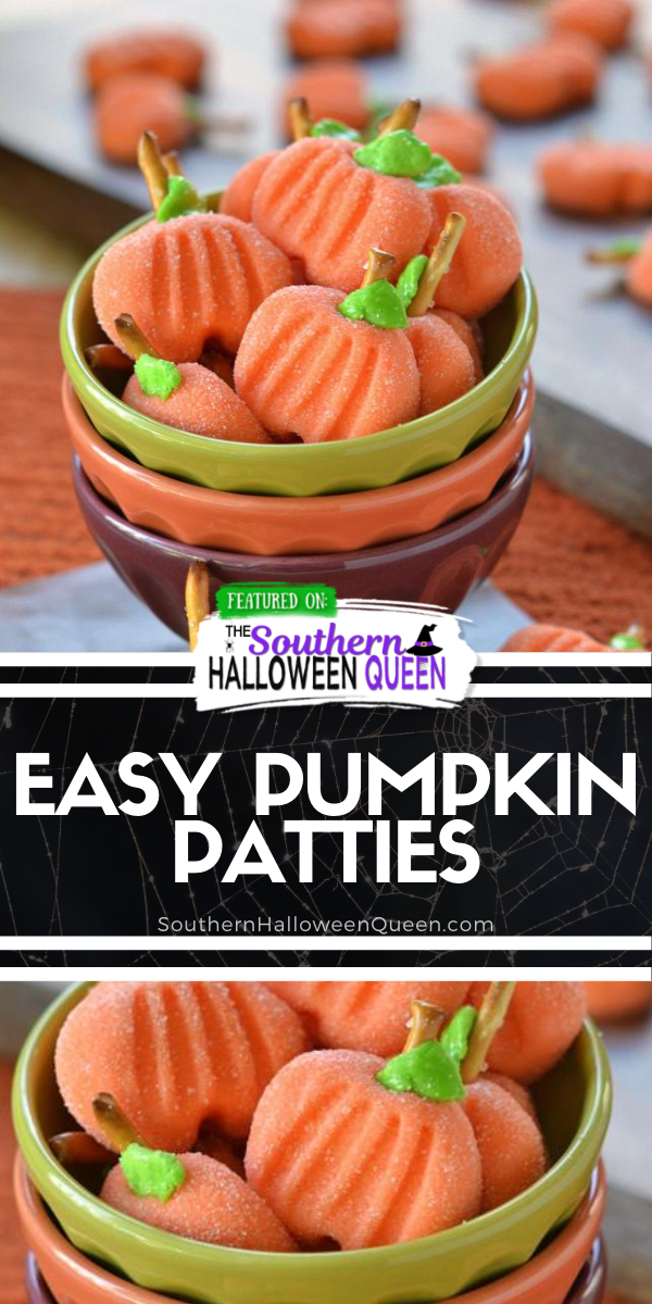 Delightfully easy Pumpkin Patties are the perfect no-bake treat to celebrate the season with. The cute factor here is off the charts! via @southernhalloweenqueen