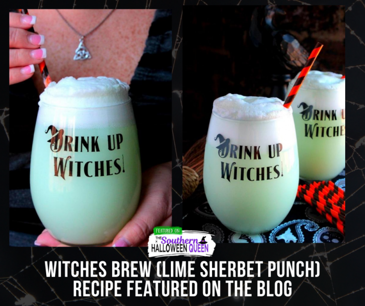 Witches Brew (Lime Sherbet Punch) (