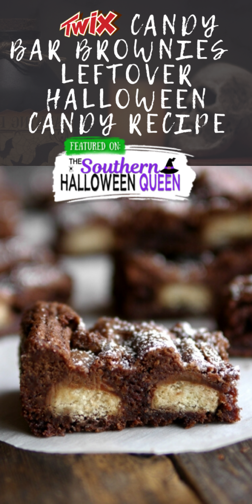 Twix Candy Bar Brownies - Leftover Halloween Candy