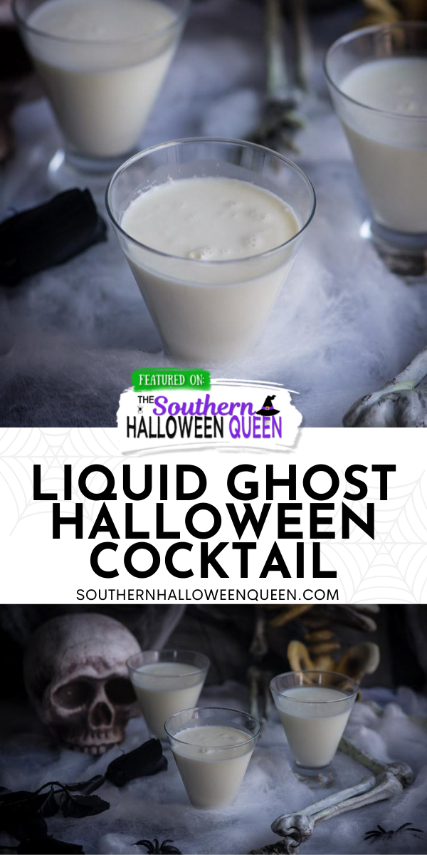 Liquid Ghost Halloween Cocktail - Melt a ghost and then make these Liquid Ghost Halloween Cocktail for a spooky cocktail that is perfect for your Adults only Halloween Party!! via @southernhalloweenqueen