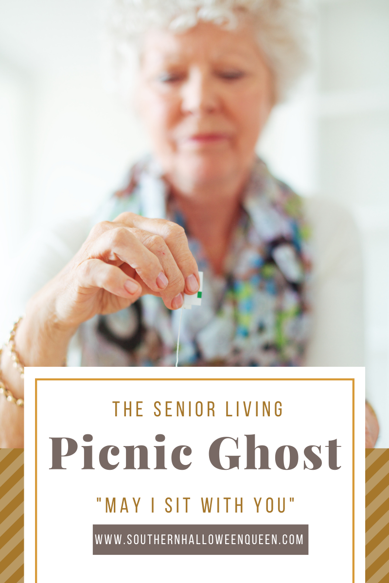 The Senior Living Picnic Ghost via @southernhalloweenqueen