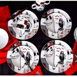 Seven20 The Nightmare Before Christmas Patched Up 16-Piece Dinnerware Set