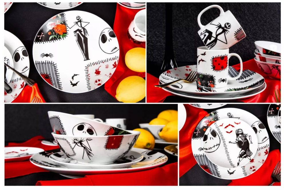 Seven20 The Nightmare Before Christmas Patched Up 16-Piece Dinnerware Set (3)
