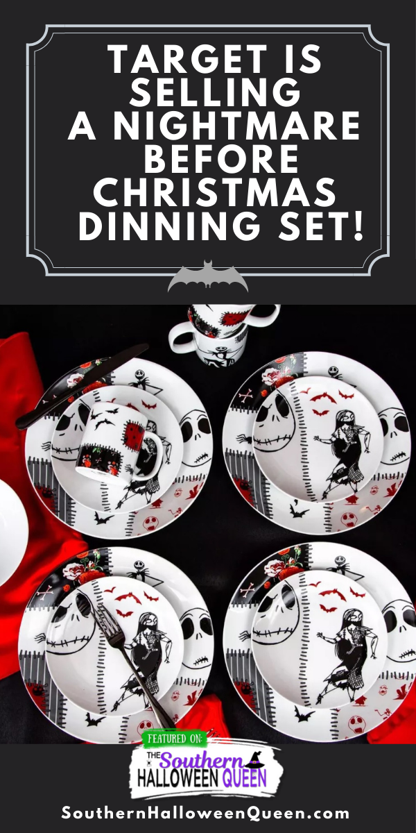 It may be summer but I'm ready for Halloween! Have you seen the Halloween Dinning Set that Target is selling this year? Target is selling a Nightmare Before Christmas dinning set and it's fantastic!! via @southernhalloweenqueen